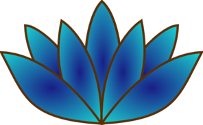 Lally's Tropical Real Estate Blue Lotus Logo